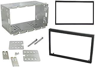 """Sound Way Kit Montaggio Autoradio, Plancia Metallica 2 DIN 110 mm Universale con 2 Mascherine 6.2"""" 173x98 mm e 7"""" 178x102 mm"""