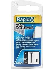 Rapid Nagelnagels type 8, 30 mm hoofdnagels 18 Ga, 1.000 stuks, voor nietjes, persluchtnagels en elektronicassers