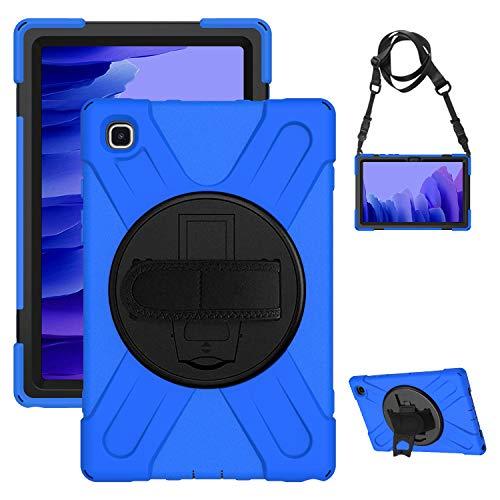Gerutek Hülle für Samsung Galaxy Tab A7 10.4 Zoll, Stoßfeste Robust Panzerhülle mit Drehbar Stände, Handschlaufe, Schultergurt Schutzhülle für Samsung Tab A7 10.4 2020 SM-T500/SM-T505/SM-T507, Blau