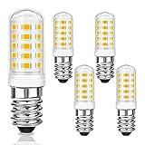 5 Pcs Maíz Bombillas LED E14 5W, 550LM, 230V, 3000K Blanco Cálido, Equivalente a Bombillas Halógenas 40W, 360° ángulo de Haz, 33 SMD LEDs, No Regulables, Bombilla sin Parpadeo para Domitorio, Cocina