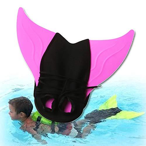 Diafrican Pinne per Immersioni Bambini, Immersioni Formazione, Pinne da Immersione per Bambini, Adatto per Il Nuoto Code di Sirena Supporto - Rosa