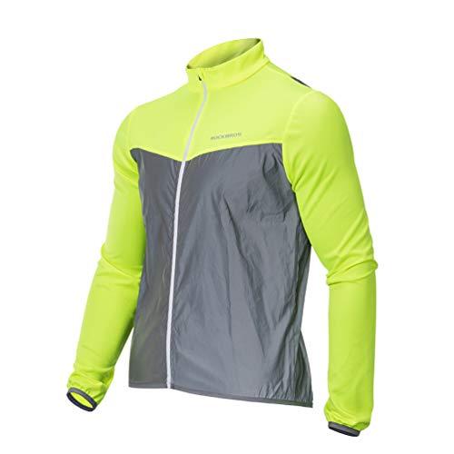 ROCKBROS Fahrradjacke Winddicht Reflektierende Laufjacke Warn-Jacke Funktions Fahrradjacke für Outdoor-Sport Radfahren, Laufen, Fischen, Wandern