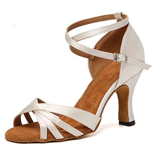 YKXLM Zapato Baile Mujer Zapatos de Baile Latino Sandalias de Baile de...