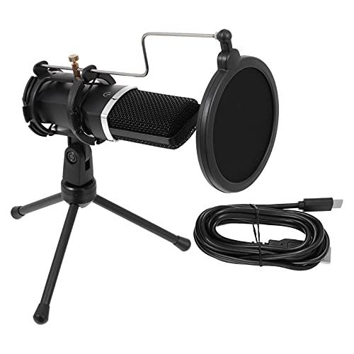 MILISTEN 1 Set Live- Uitzending Computer Microfoon Kit Condensator Microfoon Set (Zwart)