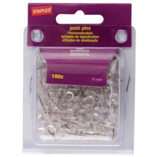 Staples - Chinchetas transparentes (100 unidades)