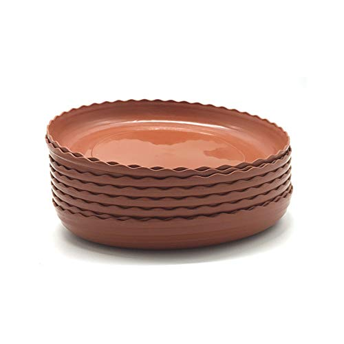 DODXIAOBEUL Light Reddish Brown Color Plant Saucers 8 Pack Flower Pot Drip Trays for Indoor amp Outdoor Plants Garden Saucers Plant Pot Saucer Trays Assorted Sizes for Large to Small Pots 8 Inch
