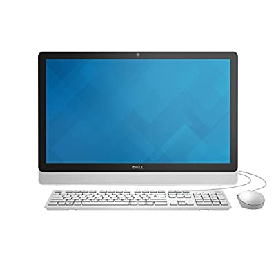 Dell Inspiron i3455-8041WHT 23.8 Inch Touchscreen All in One (AMD A6, 4 GB RAM, 1 TB HDD, White Bezel with SIlver Easel)