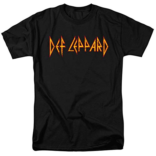 Def Leppard Logo Officially Licensed T-Shirt & Stickers (XX-Large) Black
