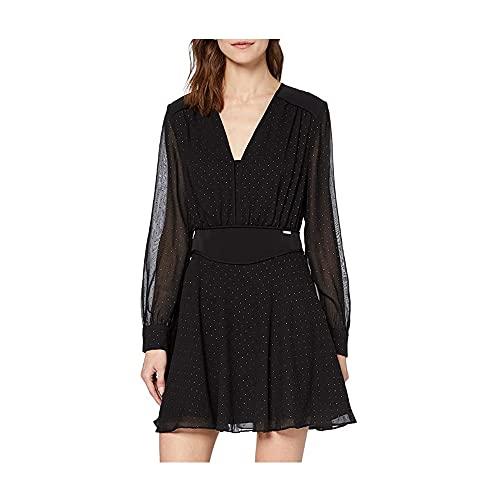 Guess ISRA Dress Vestido, Negro, M para Mujer