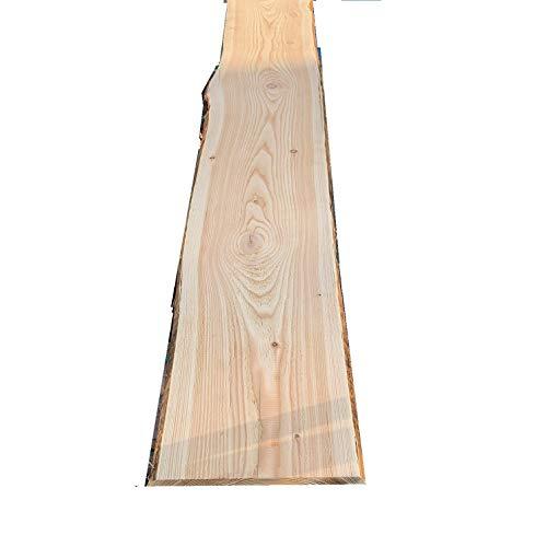 Bonanza Zaun Lärche Bohle 20,78€/m Baumscheibe unbesäumt Massivholz Zaunbretter (150, geschliffen beidseitig)