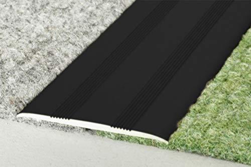 1 Stück | Übergangsprofile | Alu | eloxiert | Effector | 930x35x2mm | A08SK | schwarz