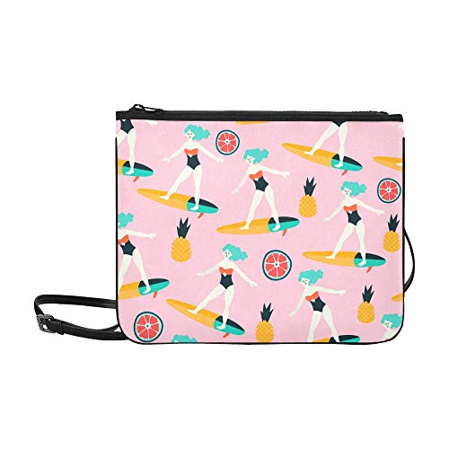 Crossbody Tote Bags Beautiful Sexy Siamese Swimsuit Beach Ajustable Shoulder Strap Everyday Crossbody Bag For Women Girls Ladies Fancy Clutch Bags Crossbody Bag For Teens