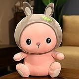 yuelei Lindo Juguete de Peluche Conejo muñeca Regalo de bebé para Novia Suave Kawaii Relleno Felpa Conejito Navidad Almohada 65cm 4