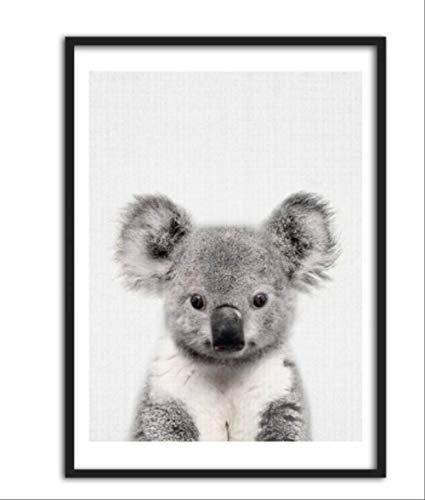 RUIYAN Leinwandbilder Niedliche Kunst Poster Und Drucke Koala Wandkunst Igel Wandbilder Arbeitszimmer Dekoration Qe26T 30X40 cm Rahmenlos
