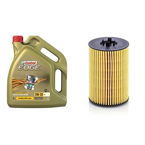 Castrol 15669E EDGE LL 5W-30 LL Motorenöl 5L & Original MANN-FILTER Ölfilter HU 7020 z – Ölfilter Satz mit Dichtung/Dichtungssatz – Für PKW