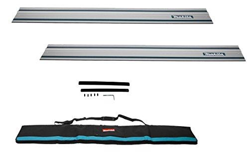 Makita 2x 194368-5 Führungsschiene 1400mm inkl. Führrungsschienentasche + Verbinder