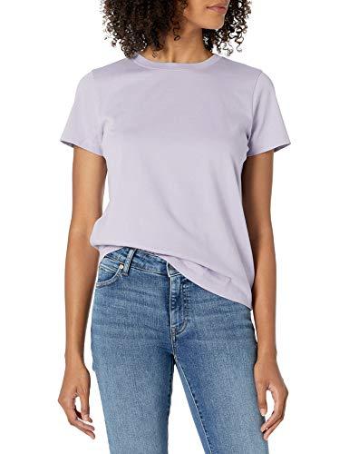 The Drop Women's Courtney Short Sleeve Tiny Crewneck Jersey T-Shirt, Lavender, S