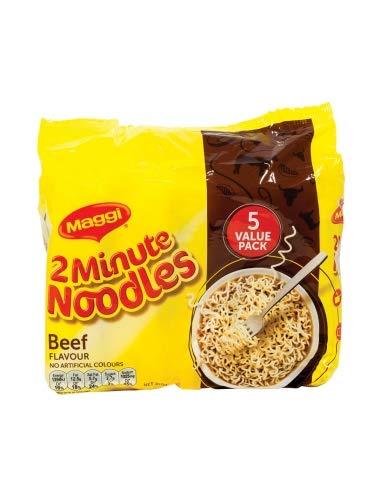 Maggi Noodle 2 Min Beef Confezione da 5 pezzi
