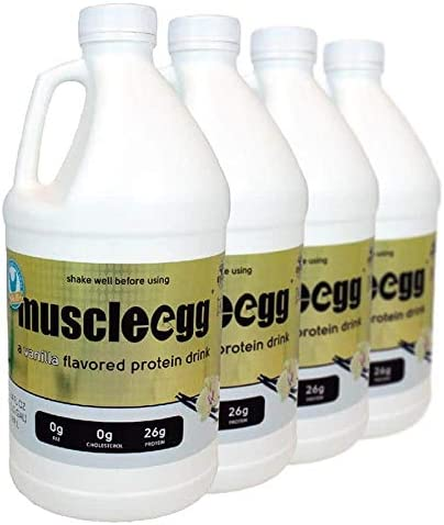 4 Half-Gallons Vanilla Free shipping anywhere in the nation MuscleEgg Egg Cage-Free Whites Liquid Award-winning store