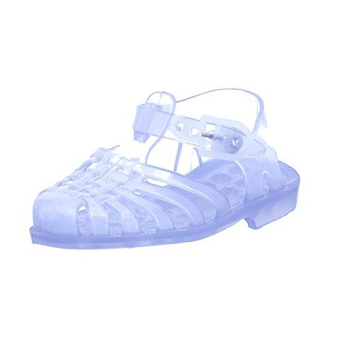 Méduse Kinder Badeschuh Sun 201 Christal Unisex Sandale PVC Gummi Durchsichtig, Größe 26