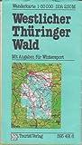Westlicher Thüringer Wald Wanderkarte DDR