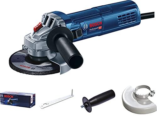 Bosch 0601396102GWS 9 S Professional–Amoladora Angular 900W, 125mm, en cartón (sin Rejilla), Color, mit Zusatzhandgriff