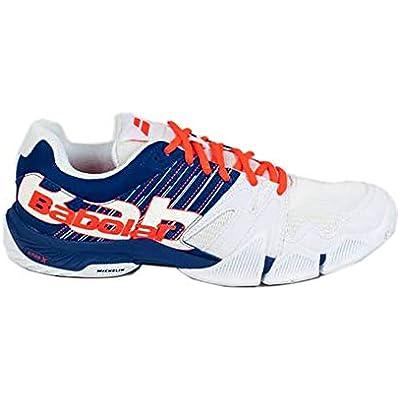 BABOLAT PULSA Men, Zapatillas de Tenis Hombre, White/Dazzling Blue, 40 EU