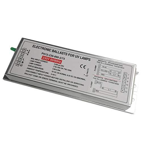 PH12-230-800-2/75 230V Emtötende UV Lampe Eektronische Vrschaltgeräte für 2 Lampen 2x35W-75W Oder 1 Lampe 95W-150W