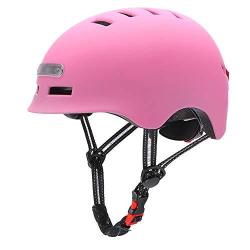 Lixada Casco de Bicicleta para Adultos Hombres Mujeres con Luz USB Recargable,...