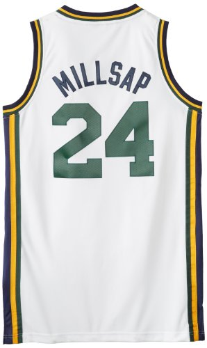 NBA Utah Jazz White Swingman Jersey Paul Millsap #24 Jazz, XX-Large