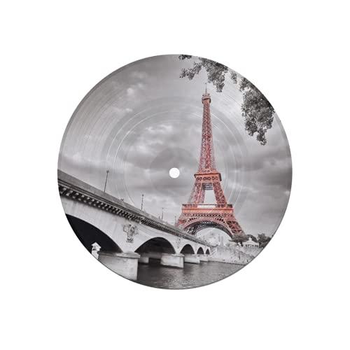 Sottobicchieri per dischi per bevande,colorazione selettiva monocromatica Torre Eiffel,assorbenti 6 pezzi Sottobicchieri per dischi Protezione efficace Desktop