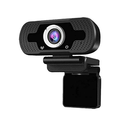 Micshion 1080P Webcam,Dual Built-in Microphones, Full HD Video Camera for PC Laptop Desktop Video Calling, Conferencing, Online Teaching, Widescreen Web Camera with Rotatable Clip