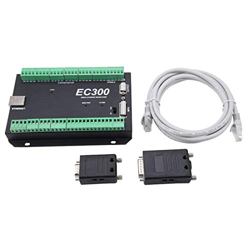 3-6 Axis 300kHzEthernet Mach3 Motion Controller EC300 CNC Control System Ethernet Motion Control Card Board for Mach3 Software(3 Axis)