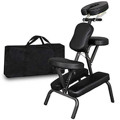 Massage Chair Portable, Folding PU Leather Pad Light Weight Massage Tattoo Spa Salon Chair with...