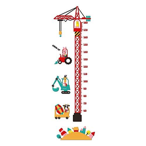 HuaHong Messlatte Kind, 3D Höhe Wachstum Diagramm, Wandtattoo Messlatte Lineal Baby Messtabelle für Kinder Kinderzimmer Deko (Color : Construction Works)