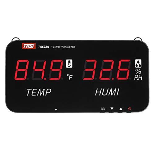 Festnight Medidor de temperatura y humedad inteligente con pantalla de visualización digital LED Termómetro digital de pared Higrómetro Termohigrómetro industrial agrícola para el hogar Medidor de