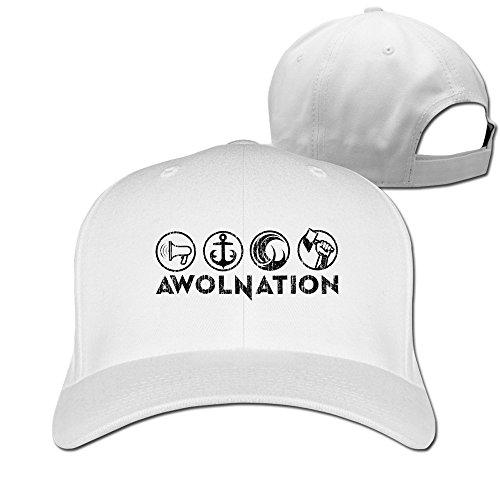 SONGKEE Awolnation Rock Banda Logo Deporte Ajustable Sombreros para Hombres