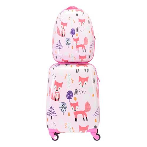 BONTOUR Lot de 2 valises pour enfant - Sac à dos...