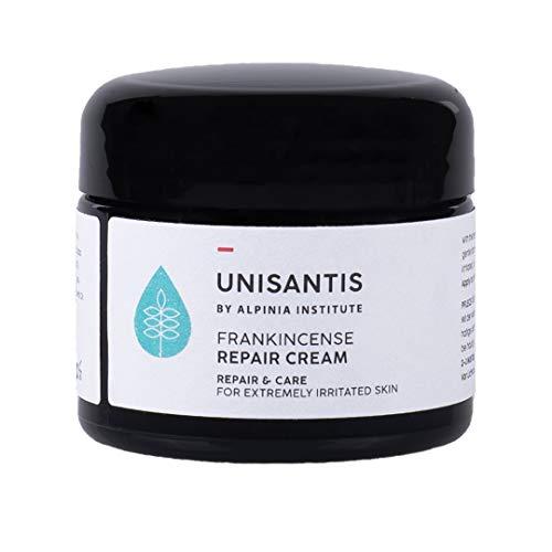 Unisantis Weihrauch Repair Cream - Reichhaltige Pflegecreme für gereizte & juckende Haut, die zu Schuppenflechte, Ekzemen & Dermatitis neigt | Gesicht & Körper | 100% vegane Formel | Steroid-frei