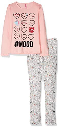 Lina Pink EF.Mood.PL Ensemble de Pyjama, Rose/Écru, Taille Fabricant: 12 Ans Fille