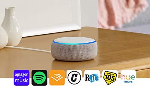 Echo Dot (3ª generazione) Ricondizionato Certificato - Altoparlante intelligente con integrazione Alexa - Tessuto grigio chiaro