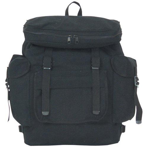 Fox Outdoor Products European Rucksack, Black, 15 x 6-Inch