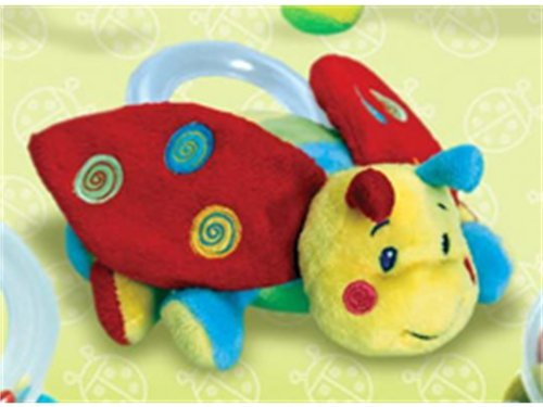 Keel Toys Cuddly Soft Snug as a Bug Ladybird Rattle Baby Gift 15cm by Keel Toys