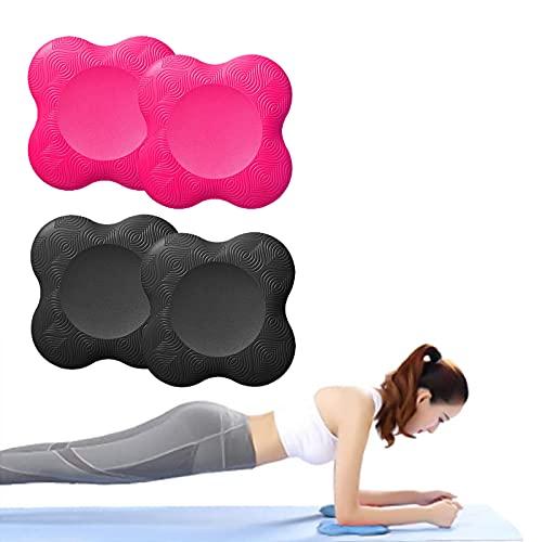 Lumanby 4 rodilleras de yoga portátiles para yoga, soporte de rodillas para yoga, respetuoso con el medio ambiente y ligero, almohadillas de yoga para rodillas, manos, muñecas y codos (juego-5)