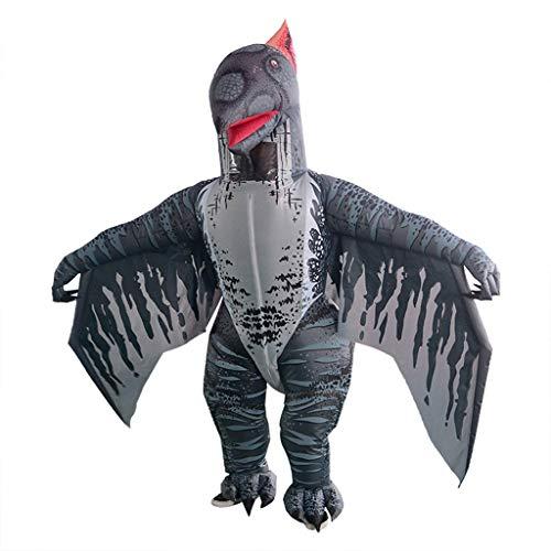 AmaMary Pterosaurio Disfraz de Dinosaurio Inflable Inflado Disfraz de Pterodáctilo para Adultos
