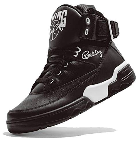 ewing athletics Herren Sneaker Ewing 33HI OG Black Leather/White (Numeric_43)