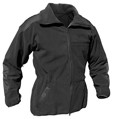 Alpinacke G3 zivil | Militärische Microfleece Jacke | Winddicht, Atmungsaktiv | Ideal für Outdoor Wandern Prepping (Small, schwarz)