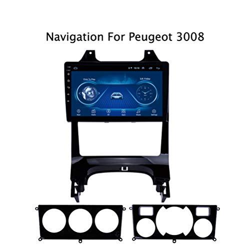 Android 8.1 Auto Stereo Radio Video Player für Peugeot 3008 2009-2012, 9 Zoll HD 1024 * 600 Touchscreen Navigation für Auto, Unterstützung Bluetooth 4.0 WiFi FM Spiegel Link,4G WlFi:2+32G
