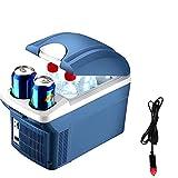 Refrigerador de coches, Mini refrigerador portátil, Refrigerador personal de doble uso personal y calentador 12V 8L 12 latas Frigorífico pequeño con 2 tazas de tazas, para automóviles de viaje de viaj