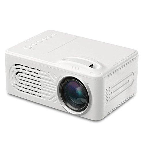 Fenghong Proiettore G814, Mini Proiettore LED Proiettore Video LCD Proiettore Premium 6000 Lumen